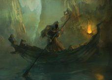 Charon et la barque des morts
