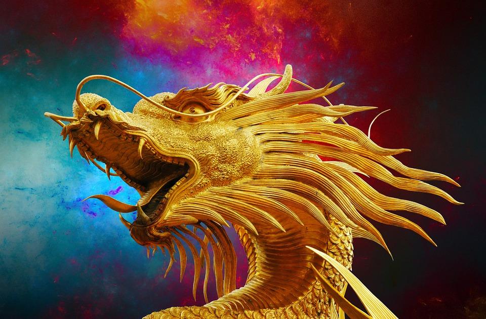 Dragon d'orient, protecteur de fortune