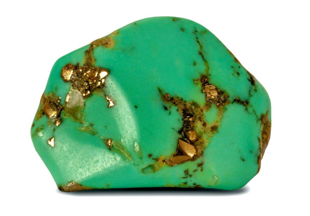 Turquoise & Pyrite Nickel
