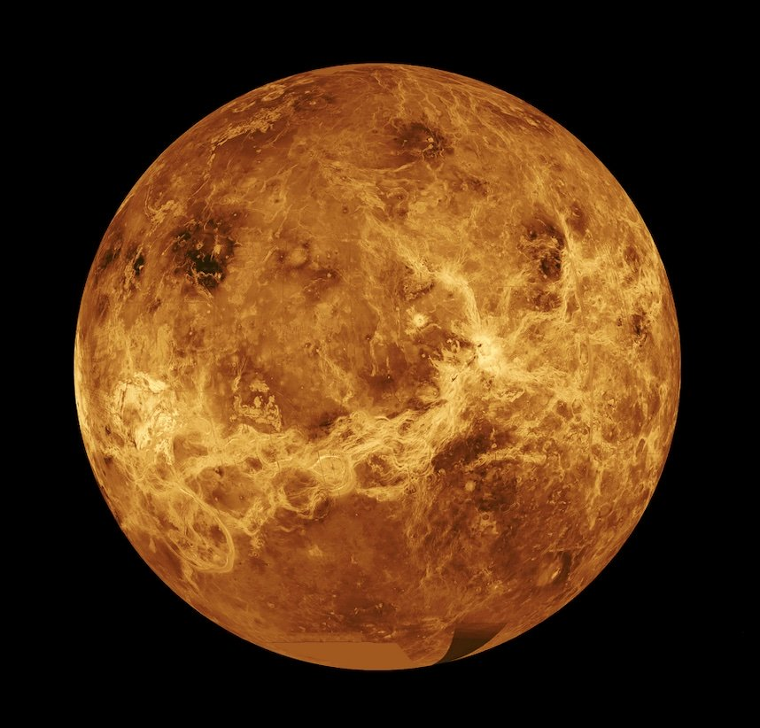 La planète Vénus, seule planète à porter un nom de déesse dans notre système solaire